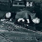 Фотограф Альфред Эйзенштадт - Клуб любителей игрушечных поездов, 1931