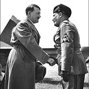 Фотограф Альфред Эйзенштадт - Первая встреча Адольфа Гитлера и Бенито Муссолини, 1934