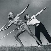 Фотограф Альфред Эйзенштадт - Тренировка атлетов на острове Хидденз, 1931