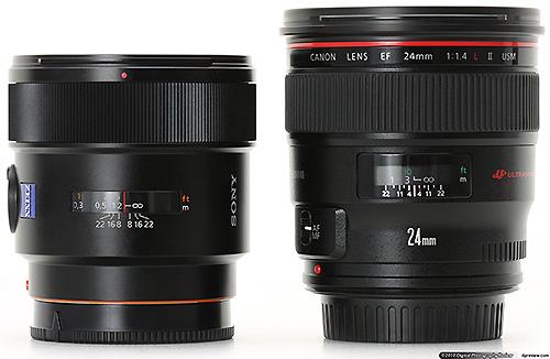 Сравнение объективов Sony и Canon