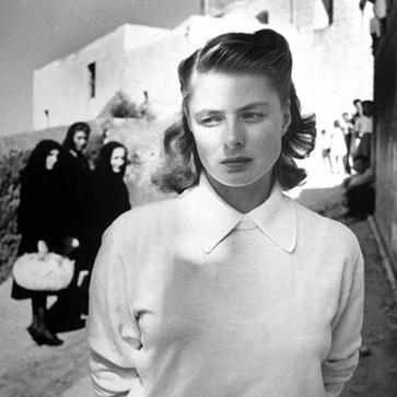 Ингрид Бергман на съемках фильма на острове Стромболи, 1949 год
