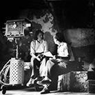 Ингрид Бергман и режиссер Роберто Росселини на съемочной площадке фильма