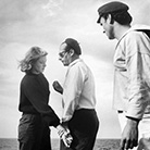 Ингрид Бергман, Марио Витале и Роберто Росселини на съемках фильма