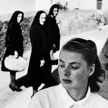 Ингрид Бергман на съемках фильма на острове Стромболи, 1949