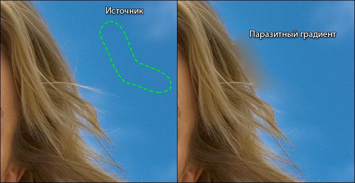 Лечащая кисть в Adobe Photoshop