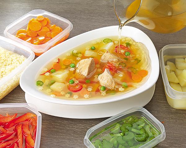 Фуд-фотография - Стадии приготовления супа