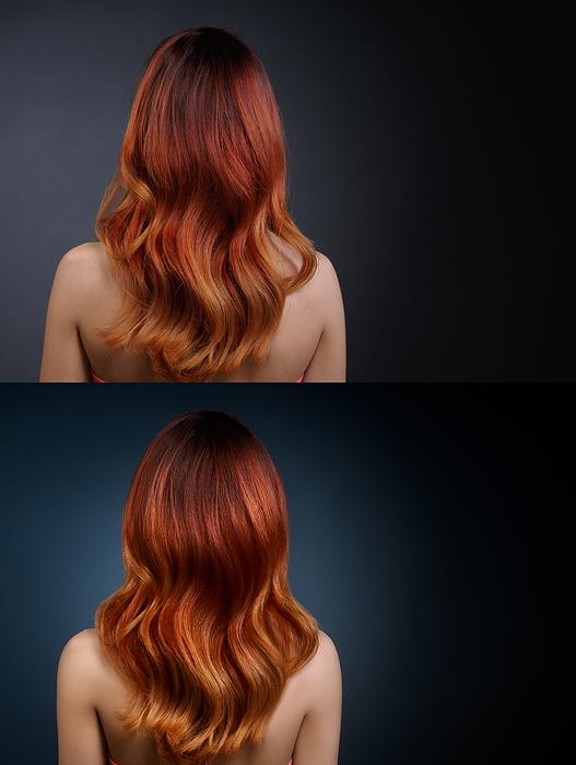 Обработка волос - Выравнивание объемов
