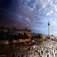 Trafalgar Square, London - Фотограф Стивен Уилкс (Stephen Wilkes)
