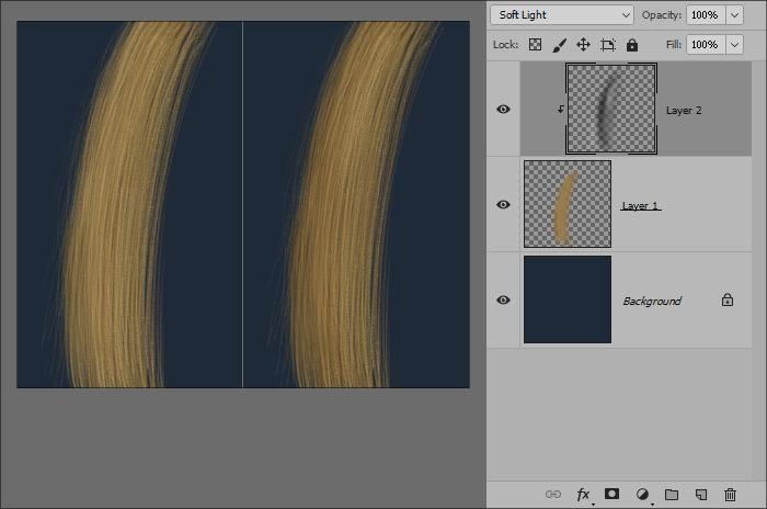Рисование волос - Обработка прически в Adobe Photoshop