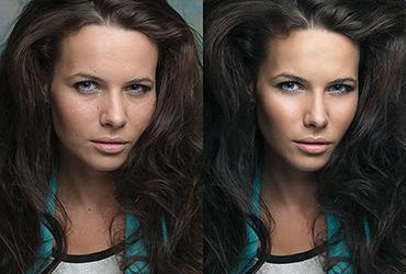 До и после ретуши